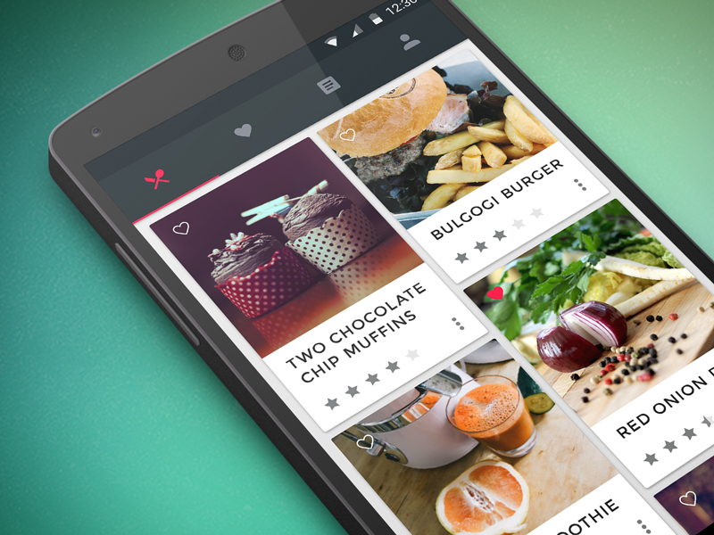 Food cooking app uplabs