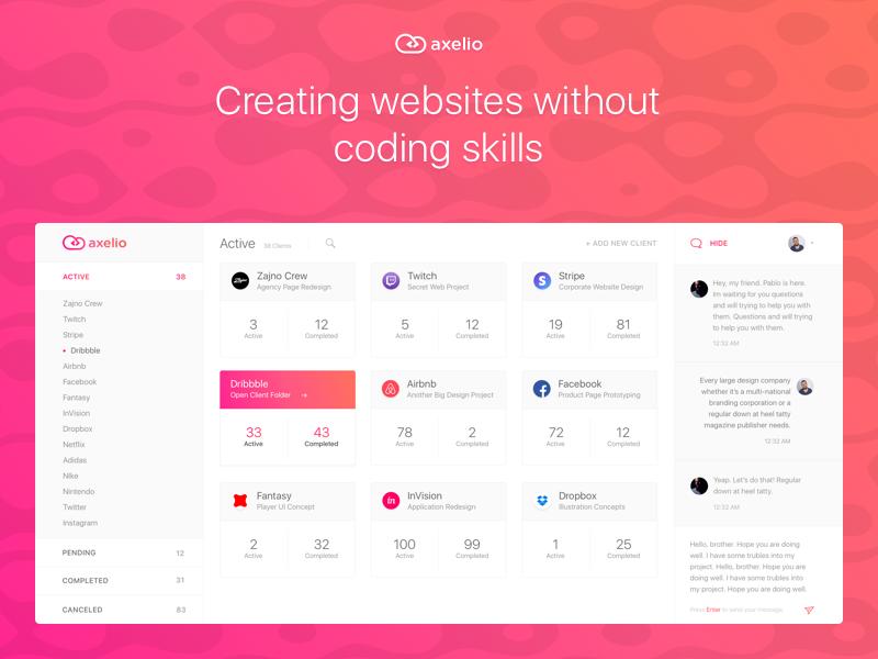 Designer Client Management Platform Dashboard Desi Uplabs