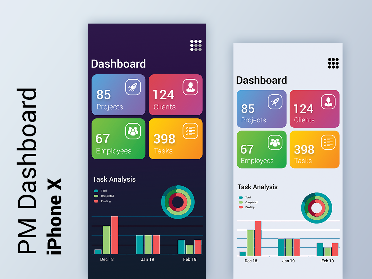 Project Management Application Dashboard For iPhone App - UpLabs