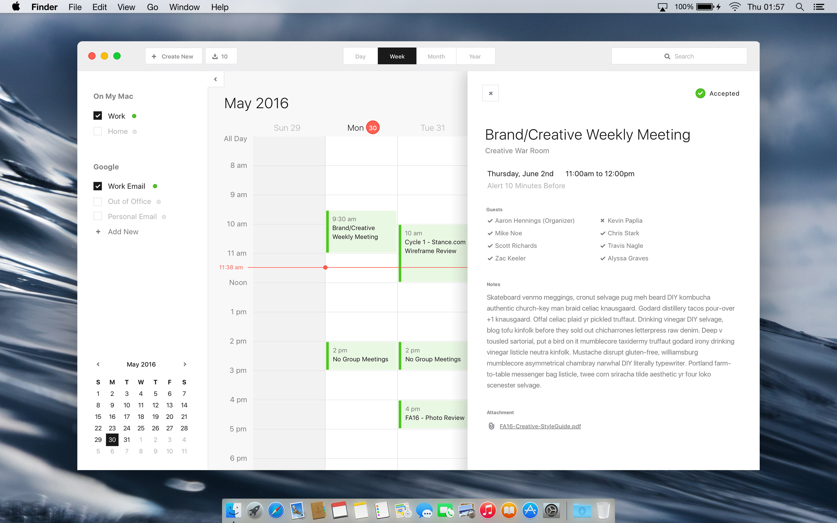 Calendar Design Mac : Mac calendar desktop app design exercise iosup