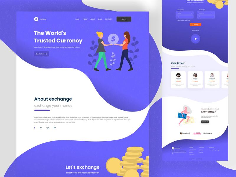 Money Exchange Website Homepage
