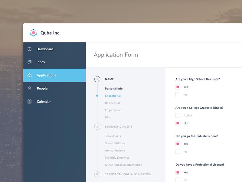 Multi-level registration form - Uplabs