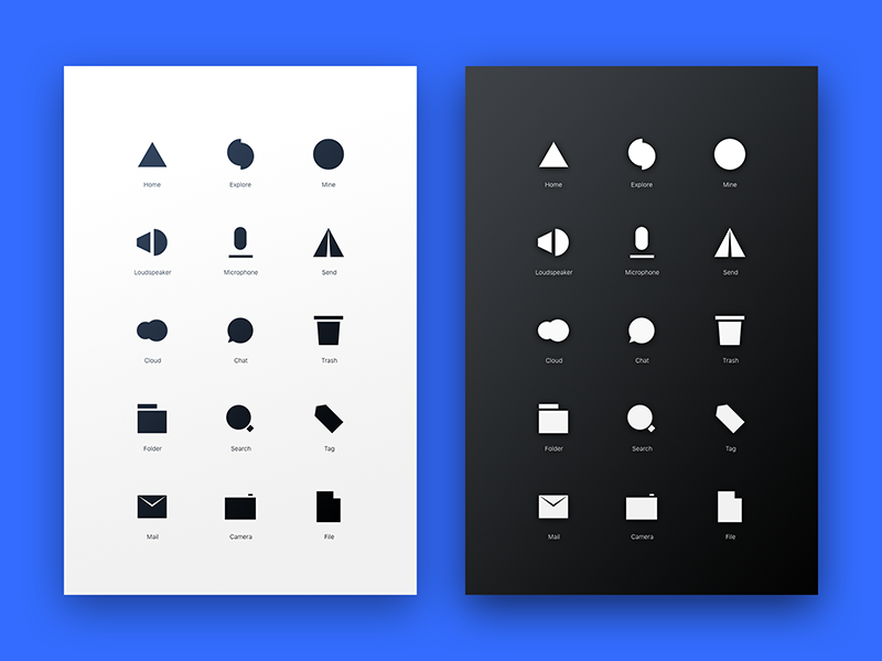 Minimalist icons uplabs for Material minimalism