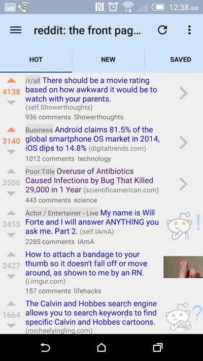 Reddit is fun Android App - MaterialUp
