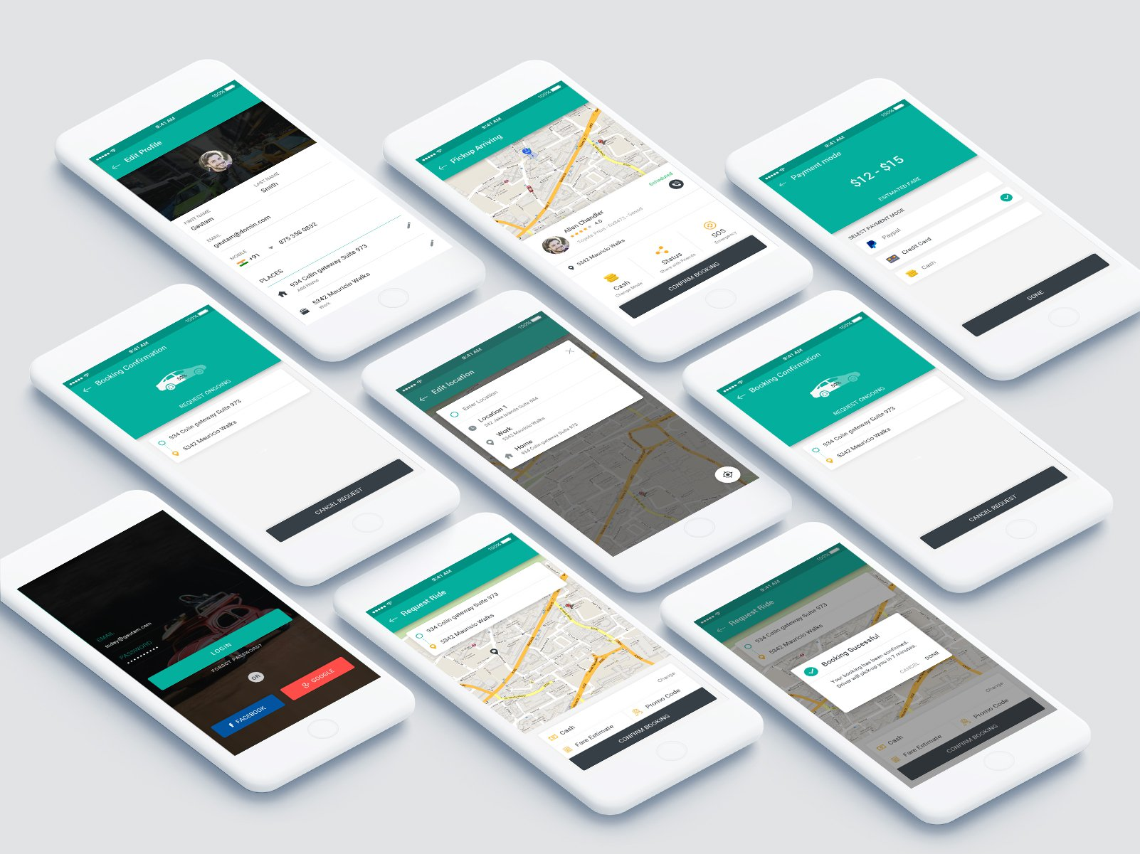 Cab Booking App - UpLabs