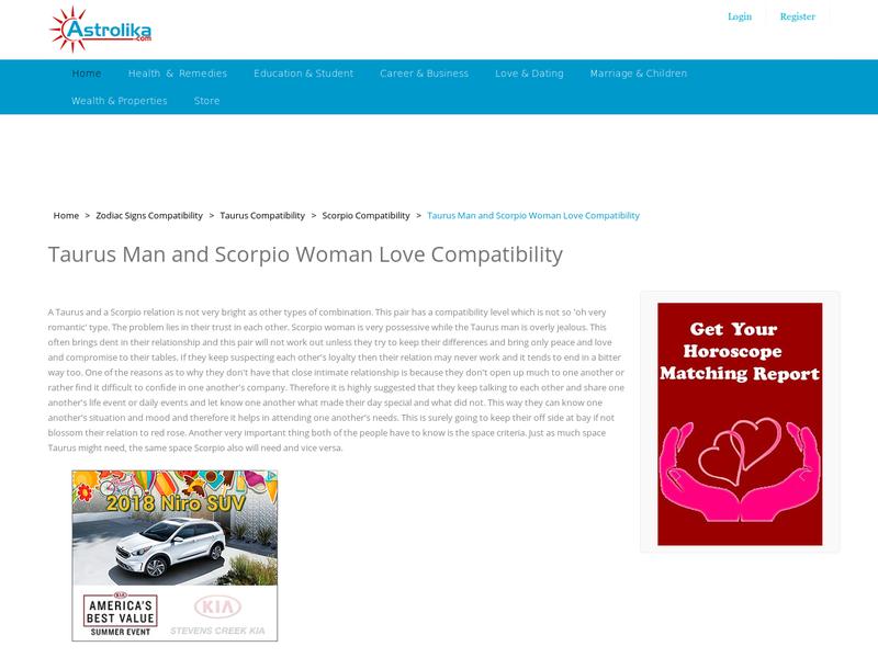 Female attraction scorpio male taurus Taurus Woman