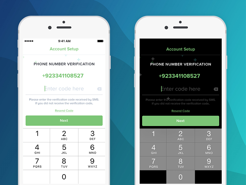 Number Verification Design Phone Uplabs - Screen