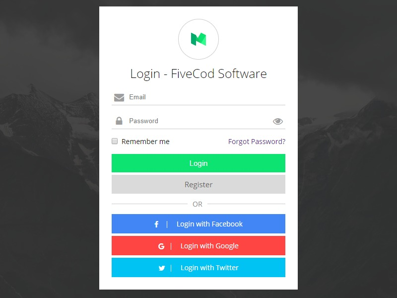 Login Form Html & Css - Responsive | Search by Muzli