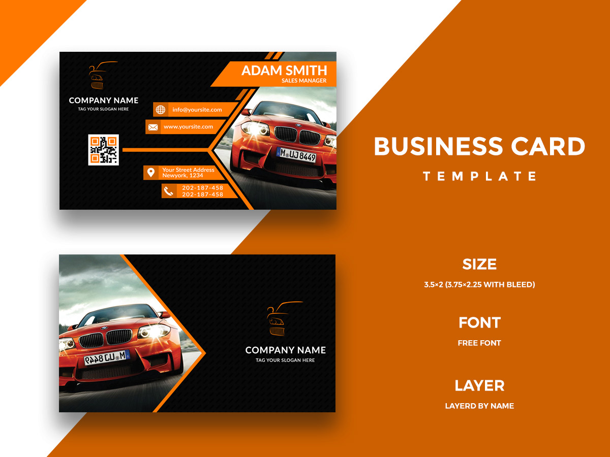 Car Business Card Template - UpLabs Intended For Automotive Business Card Templates