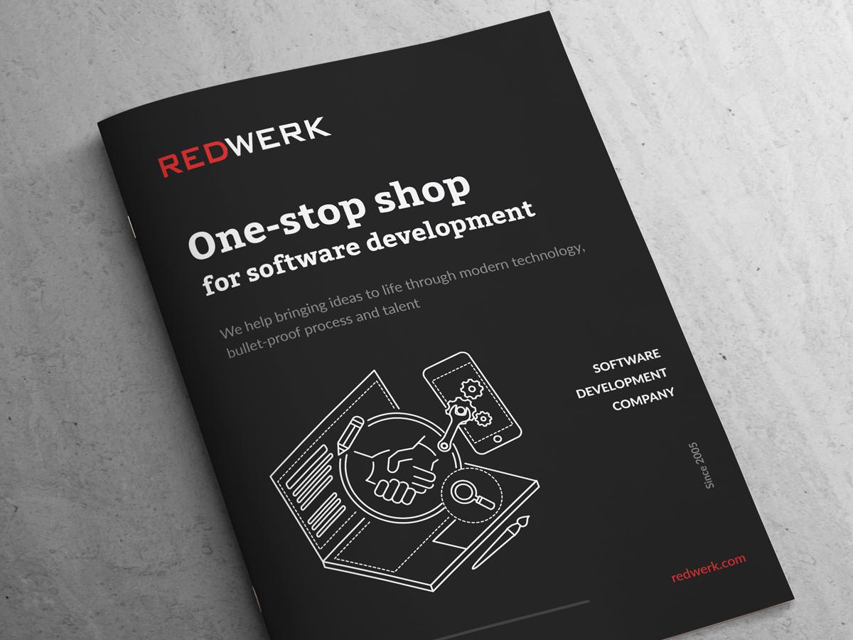 Redwerk's Brochure Design - UpLabs