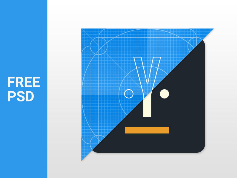Material Design Icon Template PSD - Uplabs