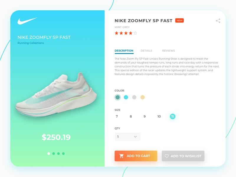 mayoria tirano Mendigar  Nike Product Page Concept | Search by Muzli