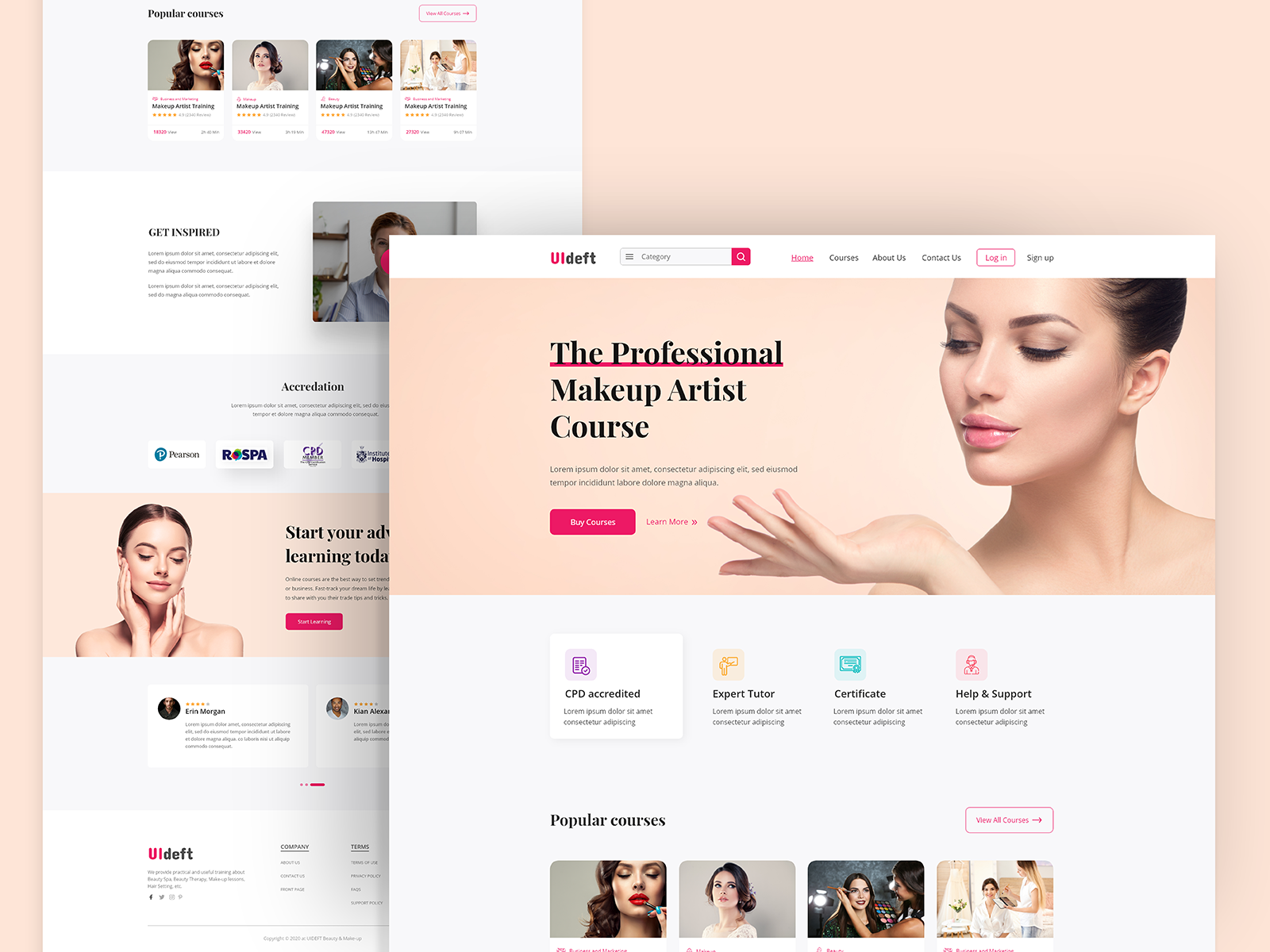 Makeup Online Learning Homepage