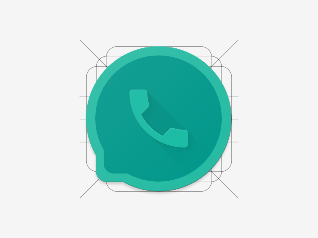 WhatsApp Icon (Material Design) - Uplabs
