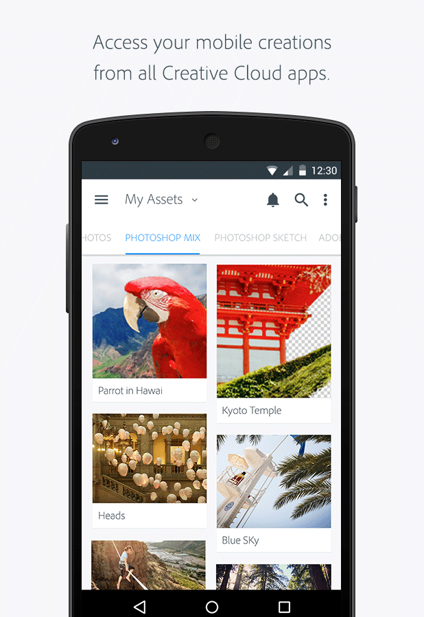 Adobe Creative Cloud app – MaterialUp