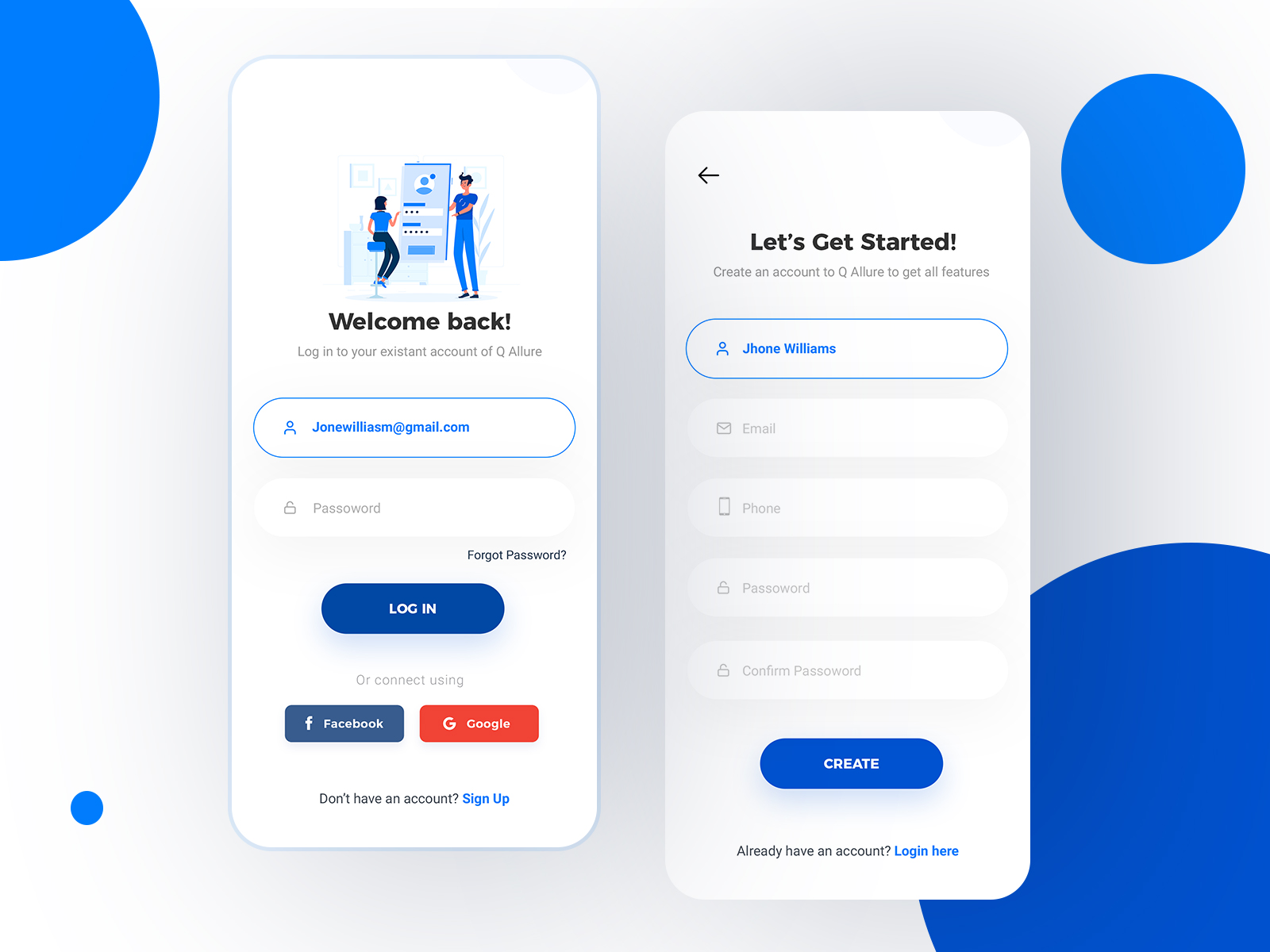Mobile App Login and Signup UI Concept   UpLabs