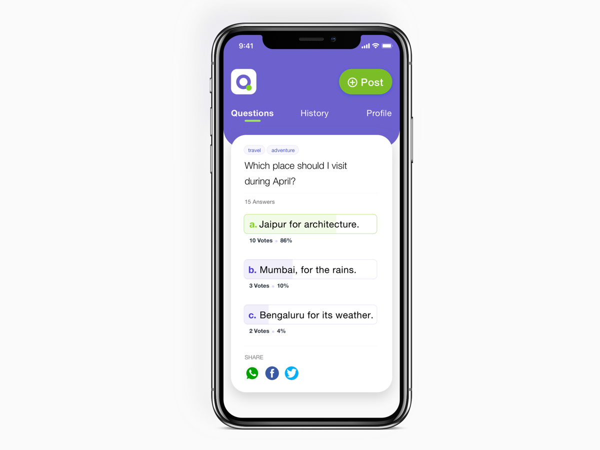 Local Question Answer App - UpLabs