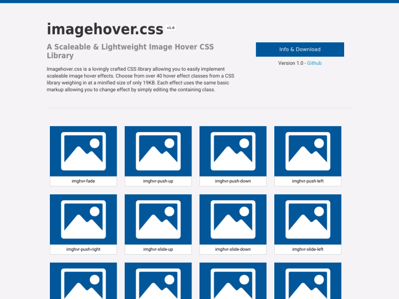 Imagehover css - An Image Hover CSS Library - UpLabs
