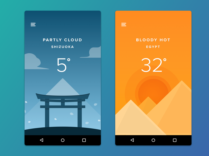 Weather App Uplabs