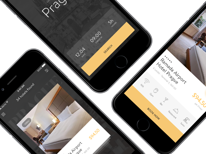 Hours Hotel App Uplabs