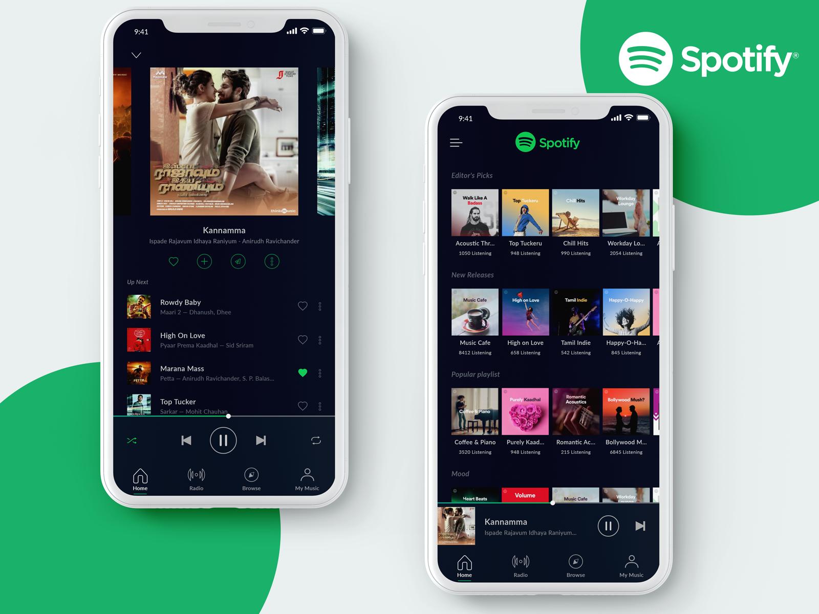 Spotify IOS App Design - UpLabs