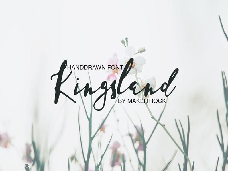 Kingsland Handwritten Script Font | Search by Muzli