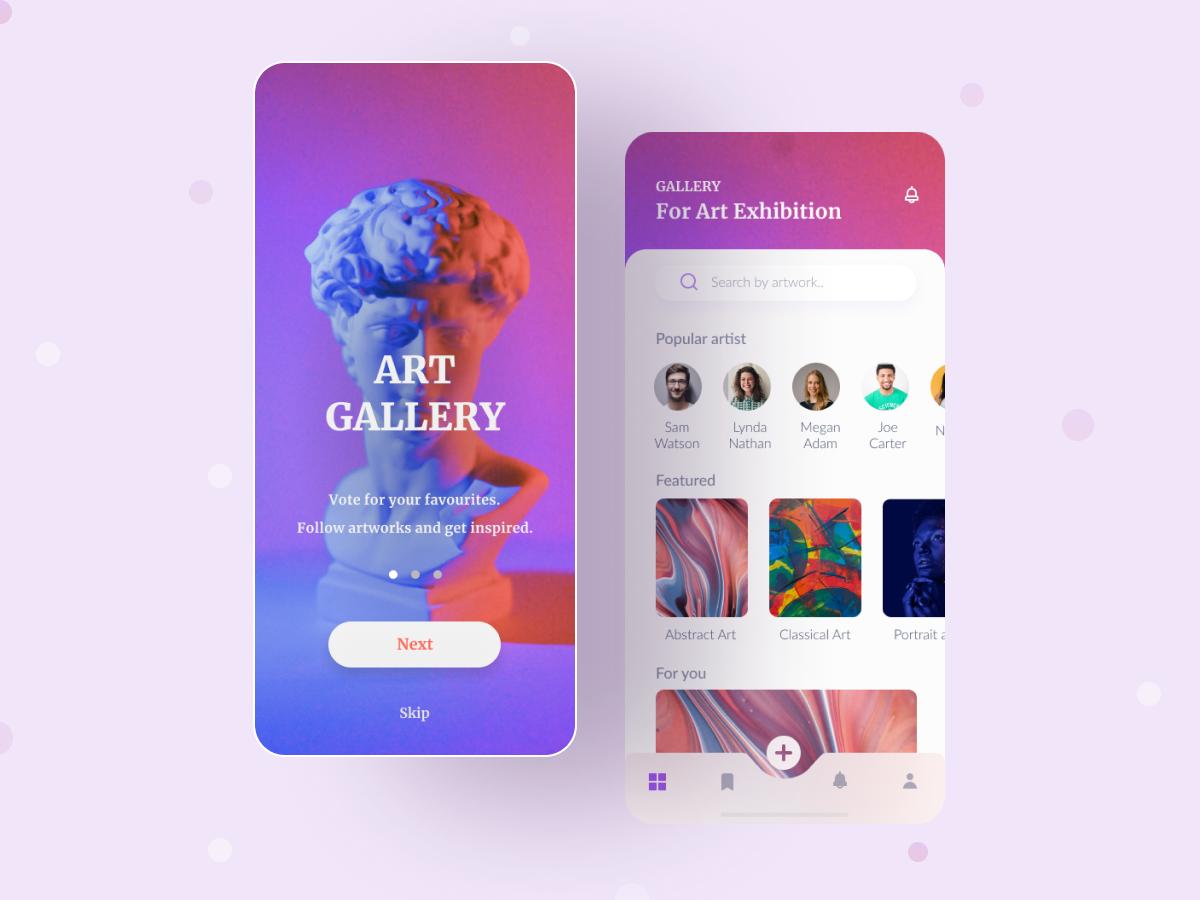 Art Gallery App Exploration   UpLabs