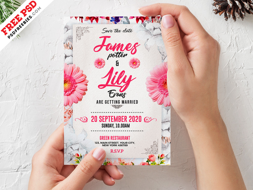 Wedding Invitation Card Uplabs
