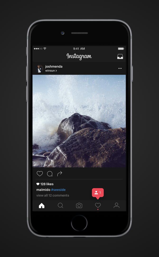 cara dark mode instagram android