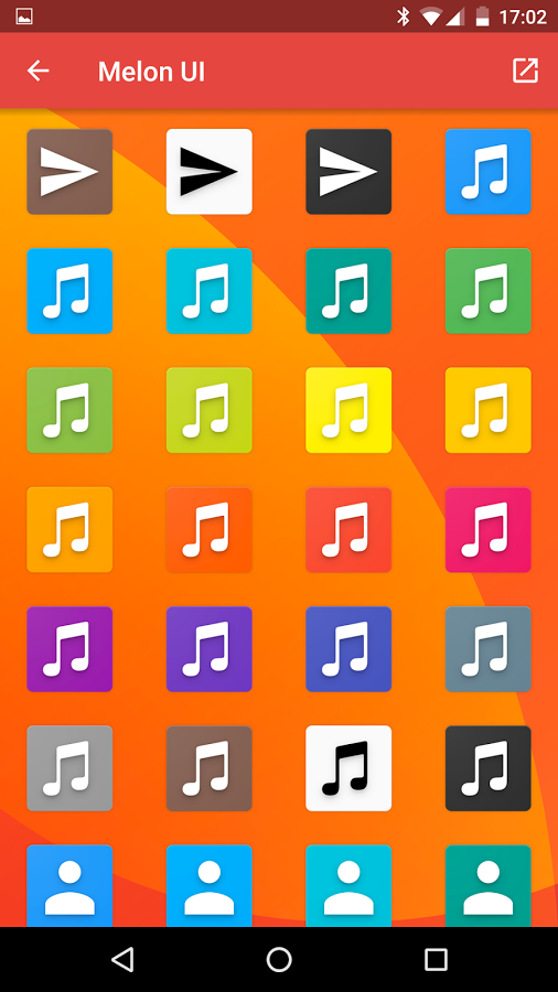 Melon UI Icon Pack Android App - UpLabs
