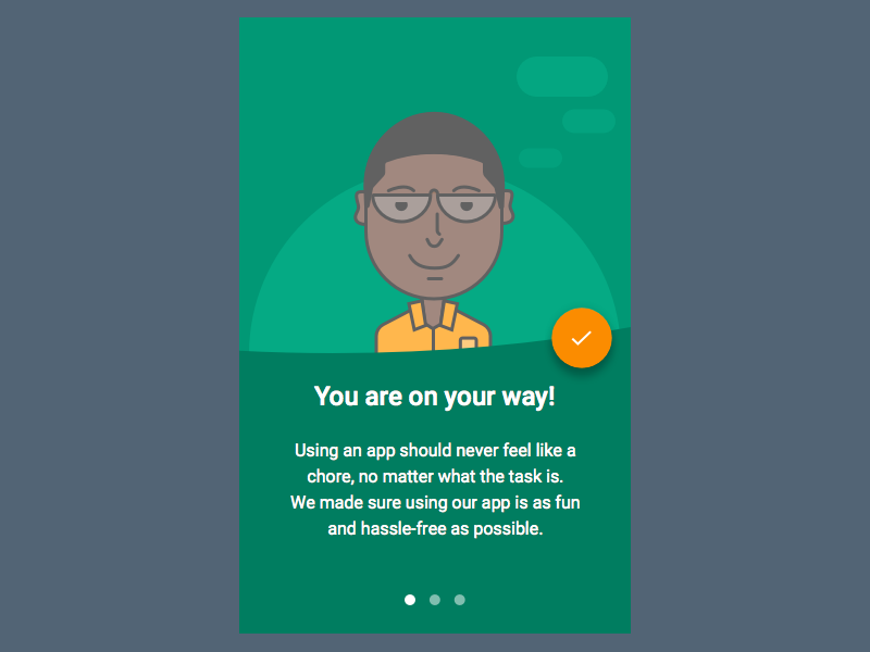 Character Illustration + Android UI design - UpLabs