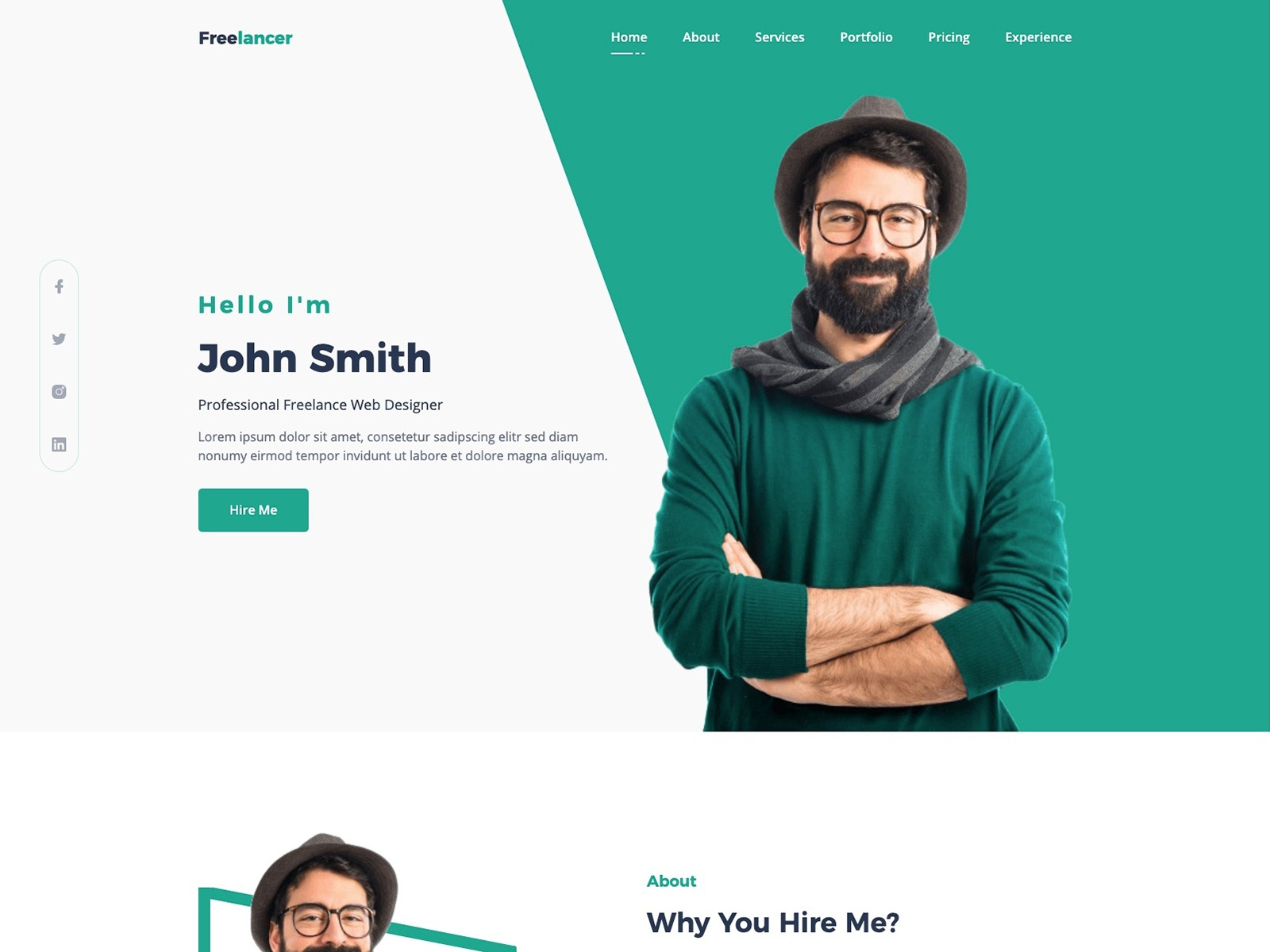 Free Cv Resume Portfolio And Personal Profile Template Search By Muzli
