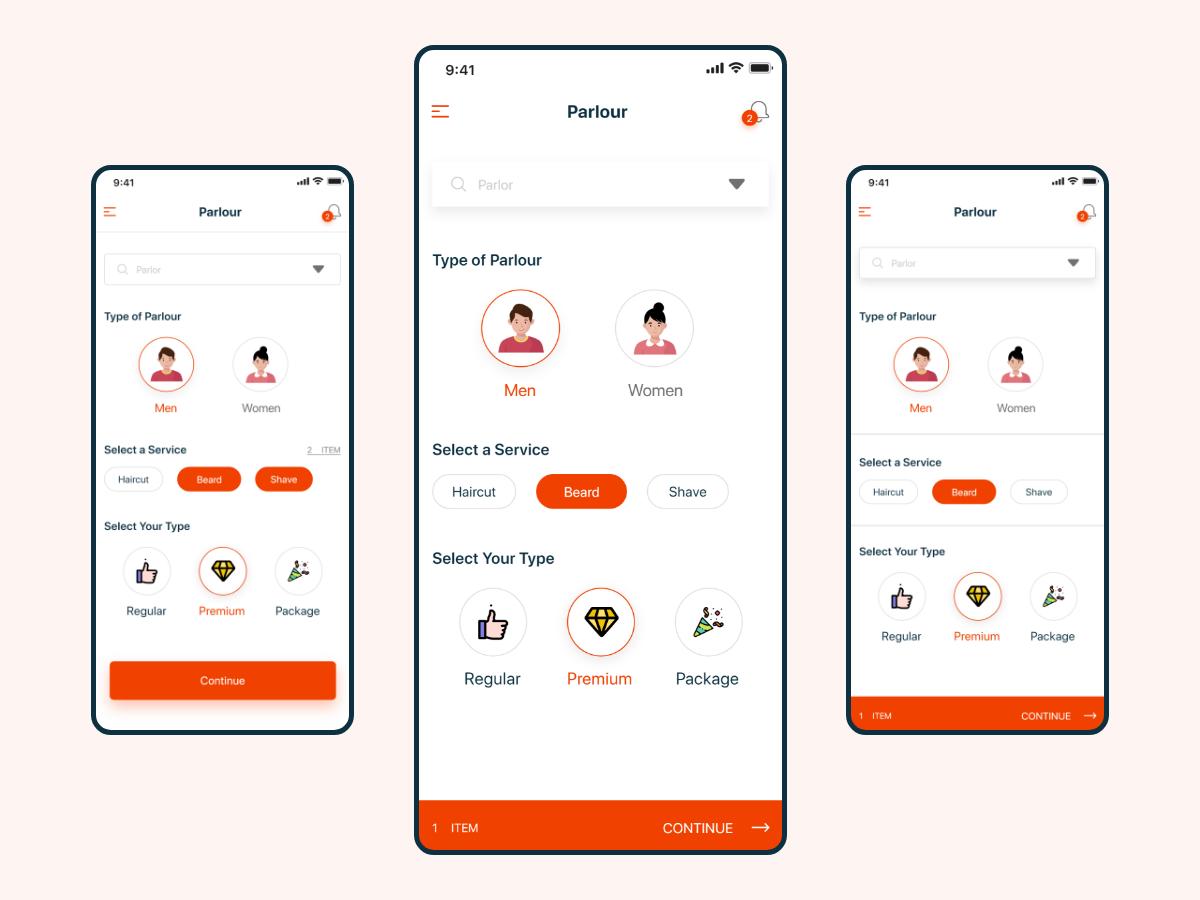 Salon App Design Uplabs