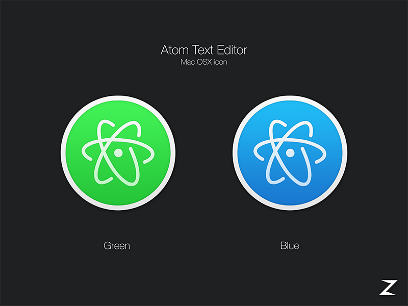 atom text editor osx icons   uplabs