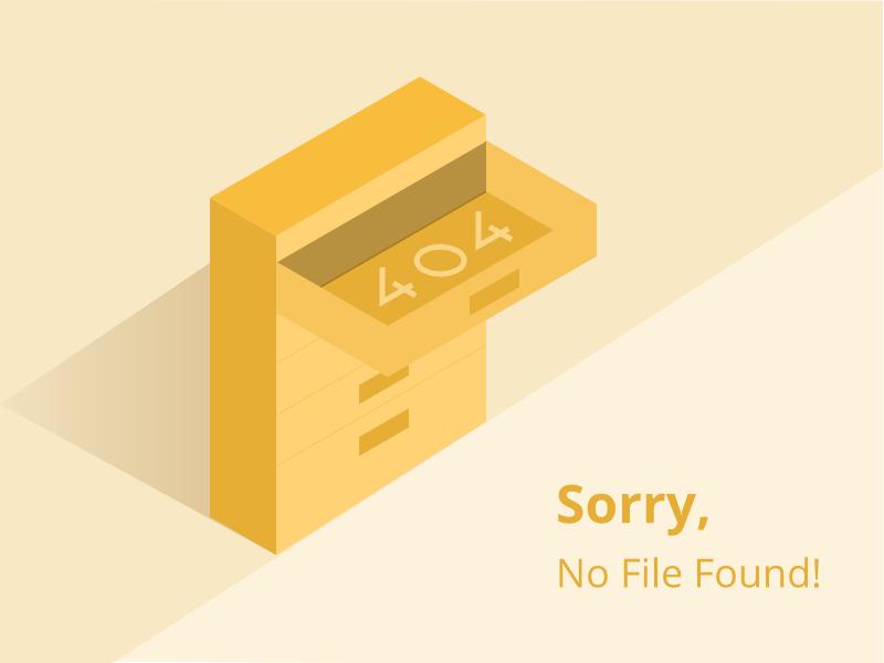 404 error page deisgn example #10: 404 Error Page Illustration