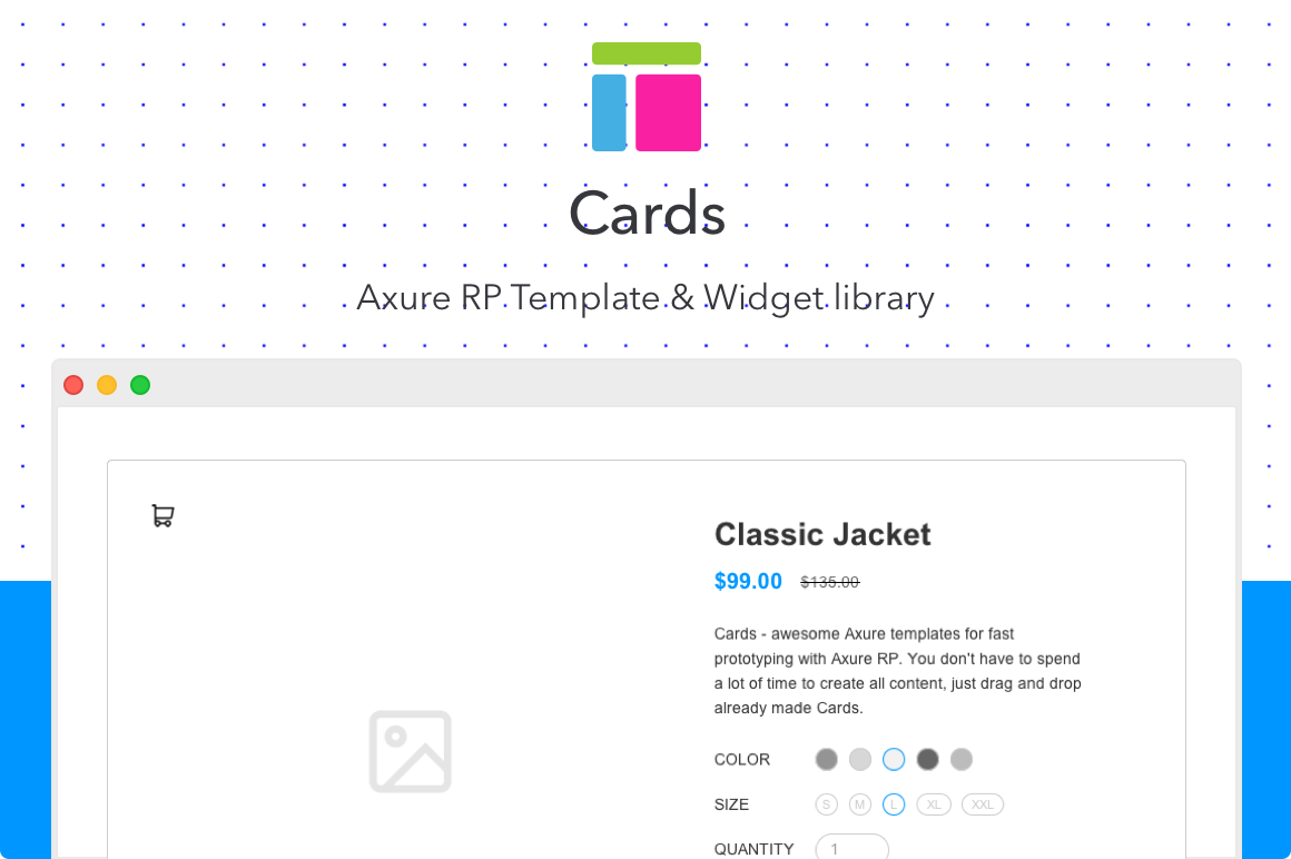 Cards Axure Rp Template Uplabs