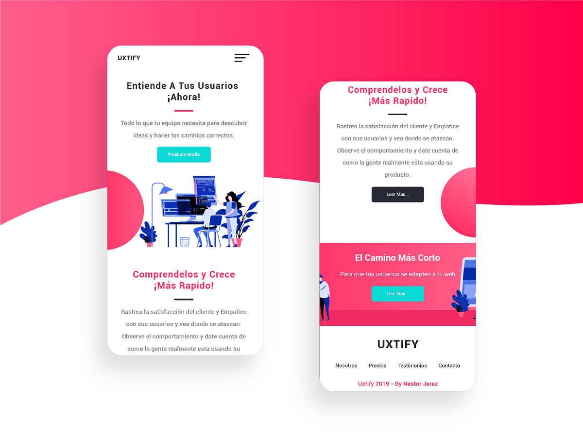 Free Web And Mobile Template Design Code Html Css Uplabs