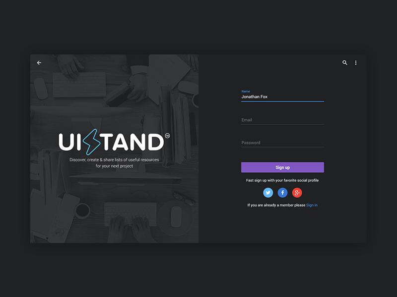 Design Interface For Website