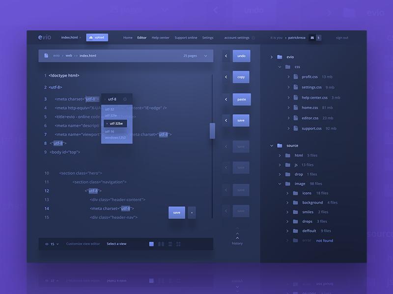 Evio Online Code Editor Uplabs