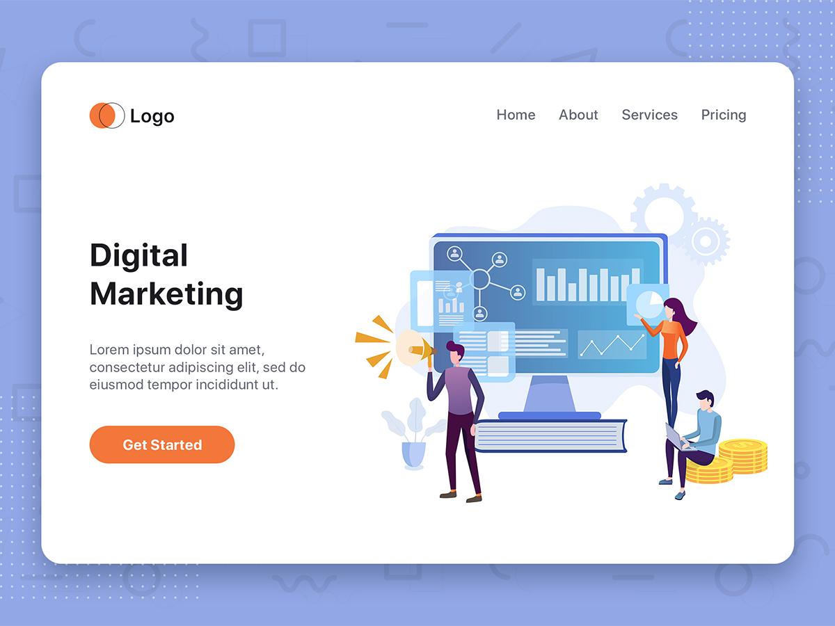 digital marketing vector illustration search by muzli digital marketing vector illustration