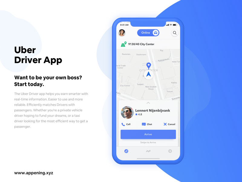 Uber Driver App UI/UX Concept - UpLabs