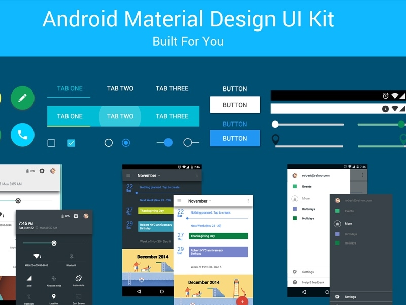 Android material design psd uplabs maxwellsz