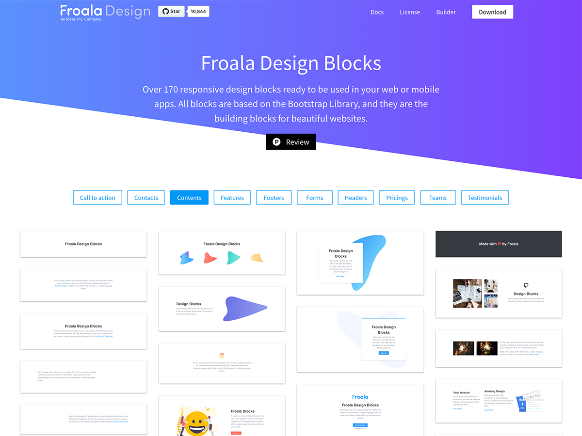 Design Blocks Froala - UpLabs