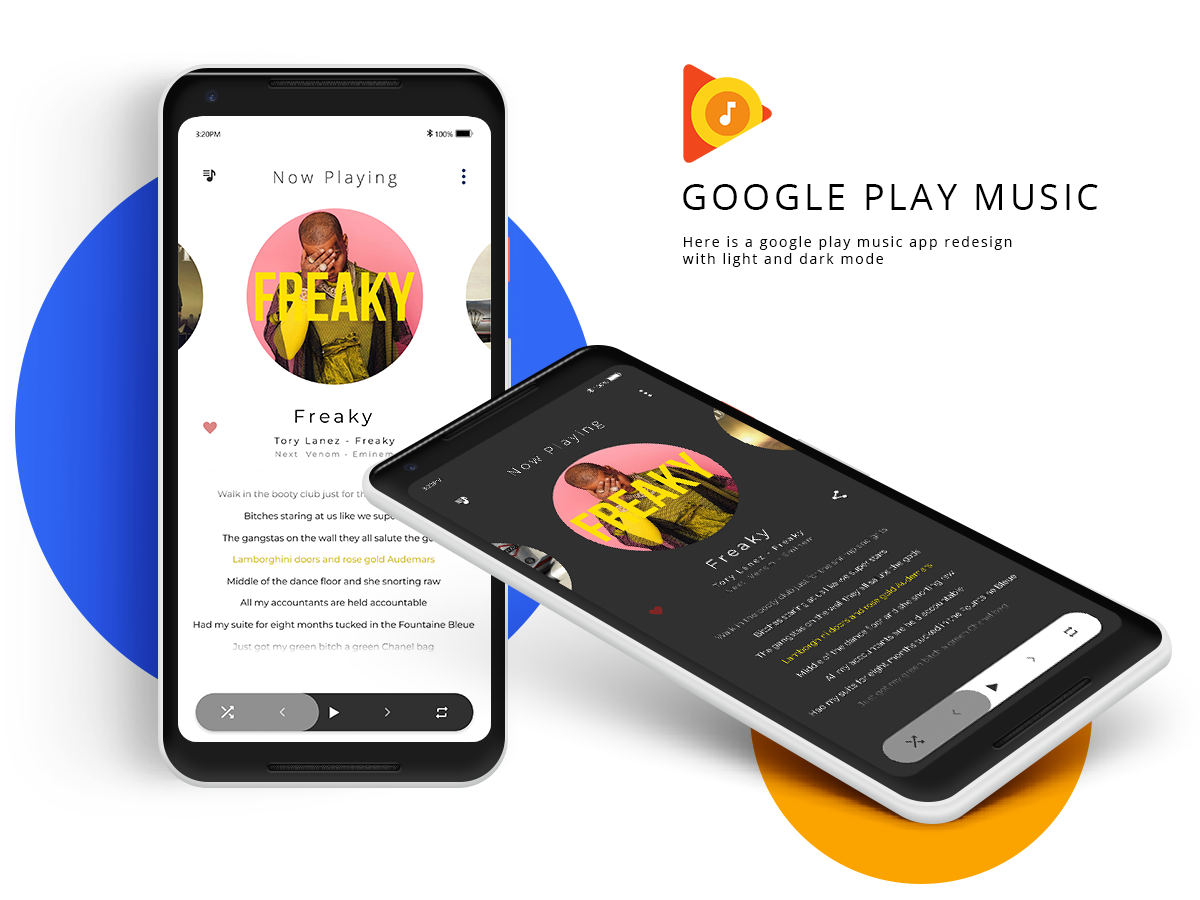Google Play Music - Redesign | Search by Muzli