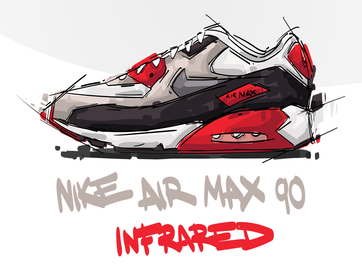 Nike Air Max 90 INFARED | Search by Muzli