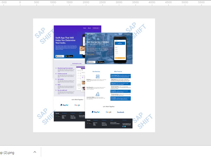 On-boarding screen for app download - UpLabs