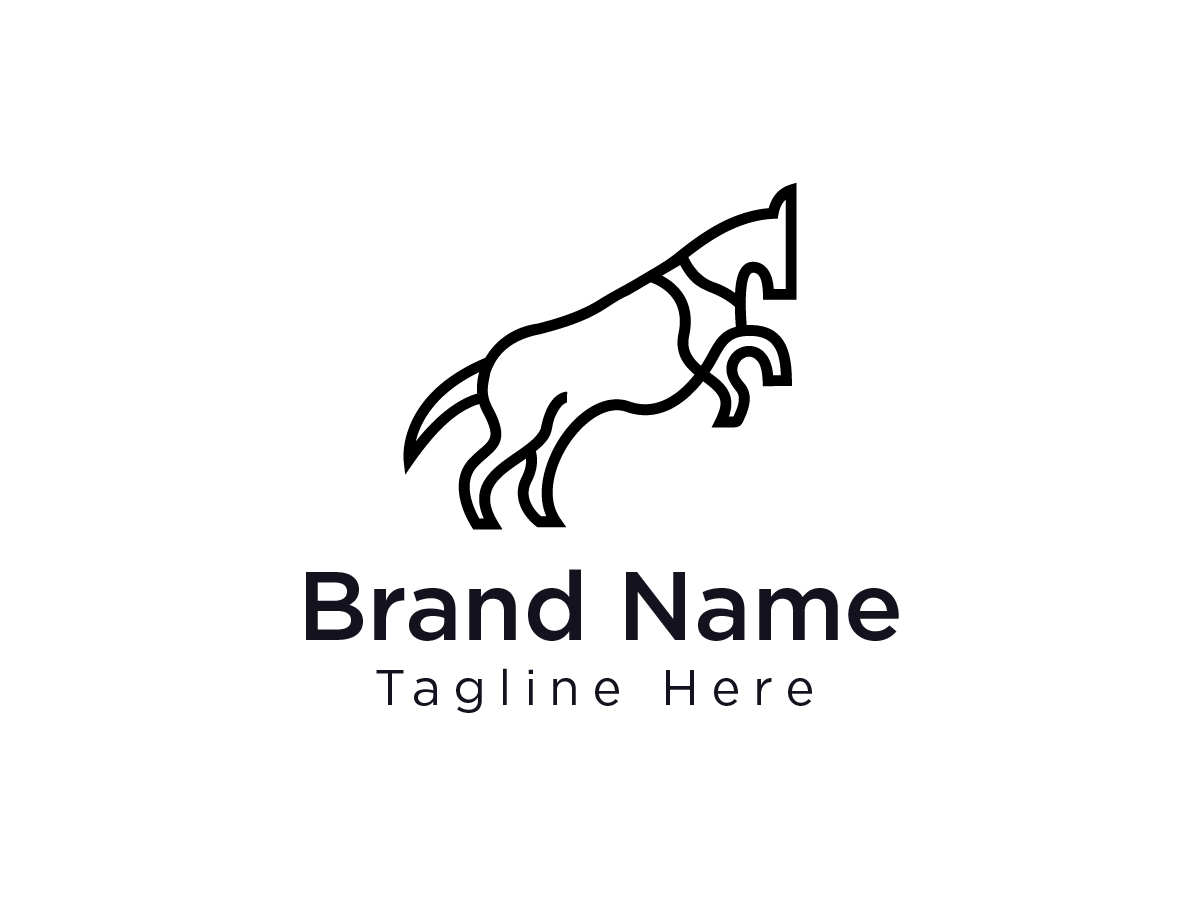 Abstract Horse Logo Search By Muzli