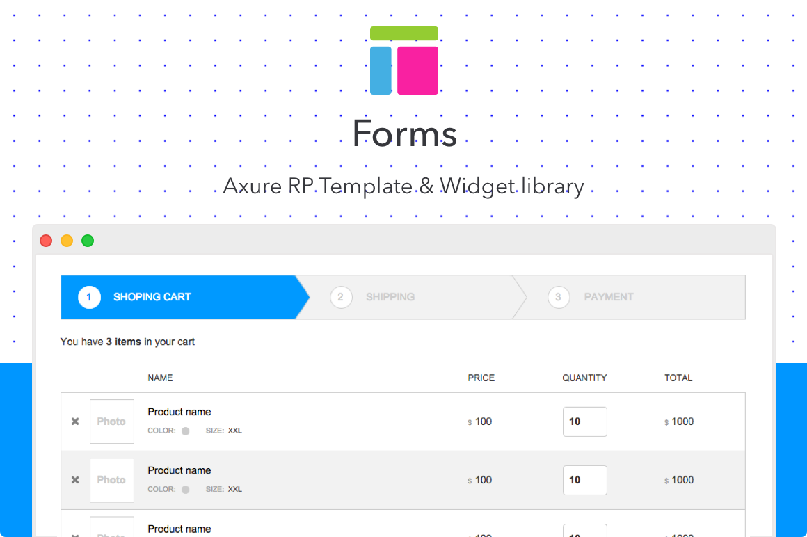 Forms Axure Rp Template Uplabs