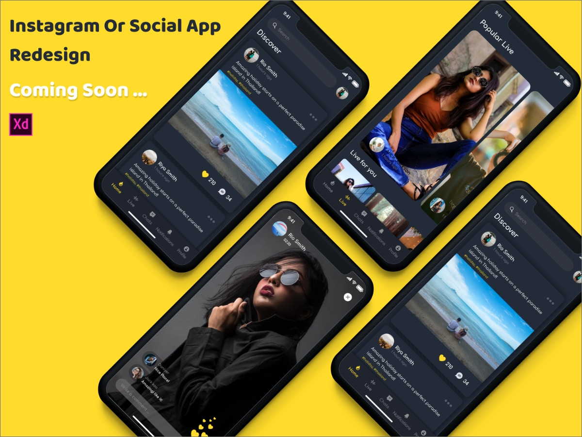 Instagram Or Social App Redesign Coming Soon Search By Muzli