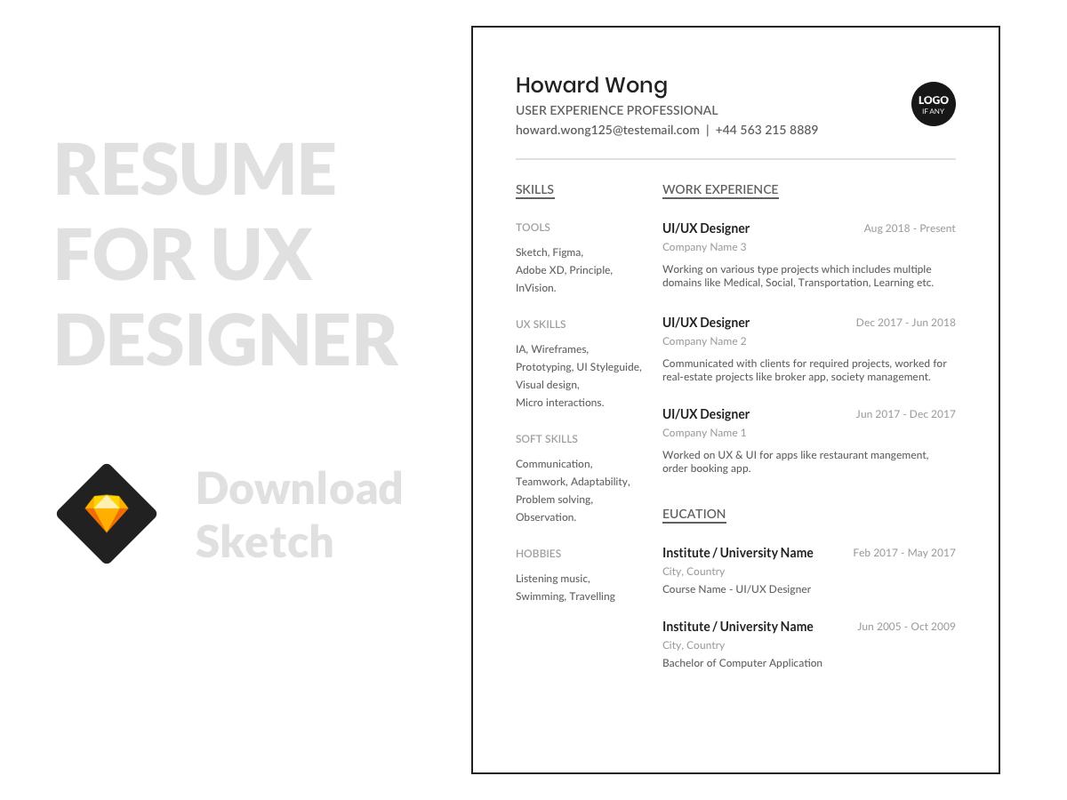 Minimal Resume Template Search By Muzli